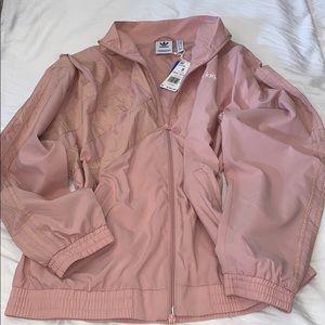 Adidas Oversized Pastel Pink Track Jacket